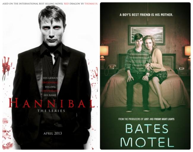 série hannibal e série Bates Motel
