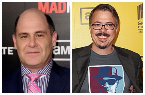 Matt Weiner, criador de Mad Men, e Vince Gilligan, de Breaking Bad: estilos diferentes de criação.